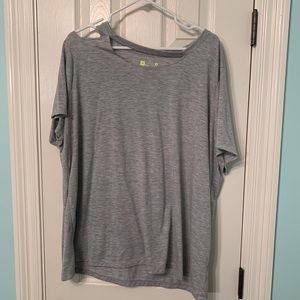 NWOT!  Xersion Workout Tee with Cutout Neckline